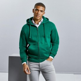 Felpa con tasca a cappuccio Men's Authentic Zipped Hood Unisex Russel
