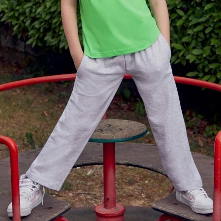 Pantalone Tuta Kids Lightweight Open Hem Jog Pants Bambino 80/20 Fruit Of The Loom