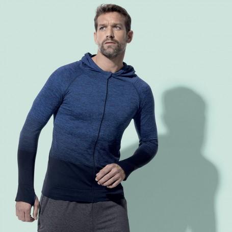Hoody Zip Sports Body Fit Active Seamless Jacket Unisex Stedman