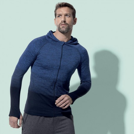 Sweat À Capuche Zip De Sport Body Fit Active Sans Couture Veste Unisexe Stedman