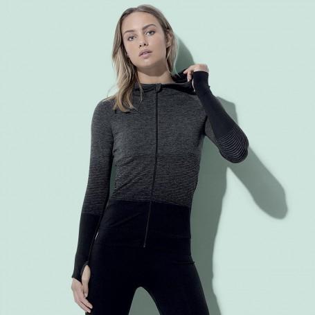 Sweat à capuche Zip de Sport Body Fit Active sans couture Veste Femme Stedman