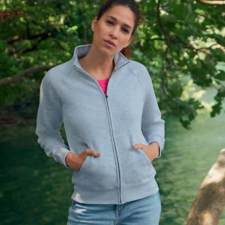 Sweatshirt Zip Premium Sweat Jacket Plush 70/30 Woman Fruit Of The Loom