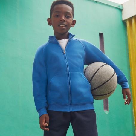 Felpa Zip Kids Classic Sweat Jacket Felpata 80/20 Bambino Fruit Of The Loom