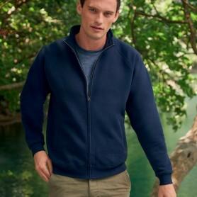 Sweatshirt Zip Premium Sweat Jacket Plush 70/30 Unisex Fruit Of The Loom