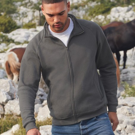Felpa Zip Classic Sweat Jacket Felpata 80/20 Unisex Fruit Of The Loom