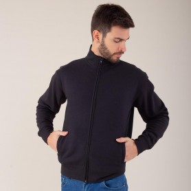 Felpa Jacket Full Zip Felpata 70/30 Unisex Black Spider