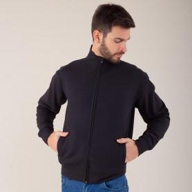 Felpa Jacket Full Zip Felpata 70/30 Unisex Black Spider