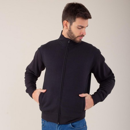 Sweatshirt Jacket Full Zip Plush 70/30 Unisex Black Spider