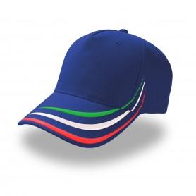 Cappello Italia 5 Pannelli 100% Cotone Twill Unisex Atlantis