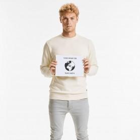 Sweatshirt Pure 100% Organic (OCS 100) crew neck Unisex Russel