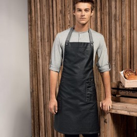 Parannanza/Grembiule 100% Cotone District Waxed Look Denim Bib Apron Premier