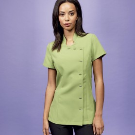The apron to the short sleeves with buttons Beauty And Spa Tunic Premier