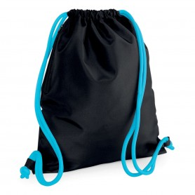 Bag/Backpack multi-purpose 36x42 cm with pocket 300D Polyester Icon Drawstring Backpack BagBase