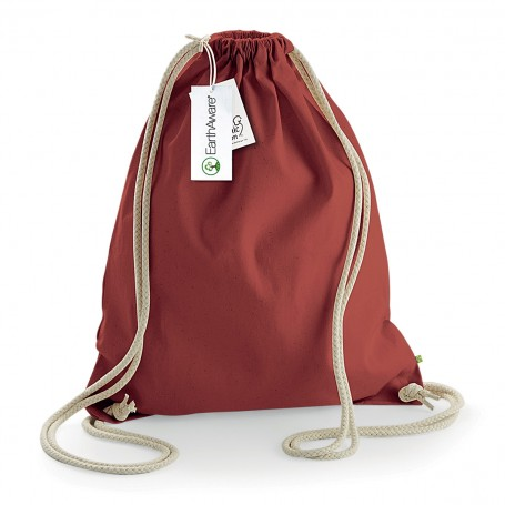 Bag/Backpack multi-purpose 32x42 cm Organic Cotton EarthAware Organic Gymsac Westford Mill