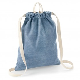 Bag/Backpack multi-purpose 37x46cm blend of cotton and polyester denim with BagBase