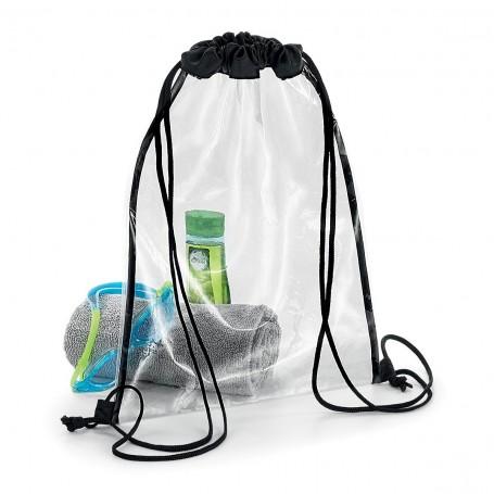 Gym bag transparent 33x45cm Clear Gymsac BagBase