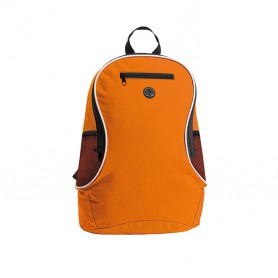 Backpack 30x40x18cm in 600D Polyester with zip closure and hole