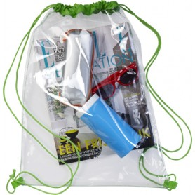Backpack Bag in transparent PVC, 45 x 34 cm 100% Polyester