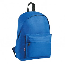 Backpack 26x38x12cm in 600D Polyester with zip and pocket. Eastwest Promo