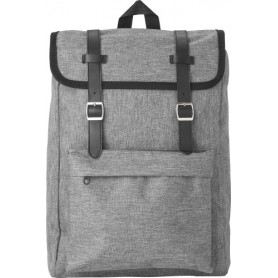Backpack 40x27x12cm Polyester 210D with flap secured with 2 buckles