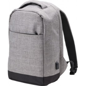 "Backpack anti-theft Port PC 15"" 39x26x12cm with USB on the side"