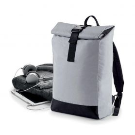Backpack Reflective 26x43x13cm Polyester and Cotton BagBase
