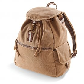 Backpack Vintage Style 36x30x16cm Cotton Canvas Vintage Canvas Backpack Quadra