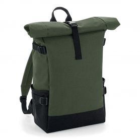 """Backpack 17"""" Laptop 28x48x15cm Block Roll-Top Backpack BagBase"""