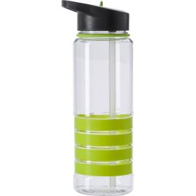 Water bottle-transparent 700ml. with a straw inside