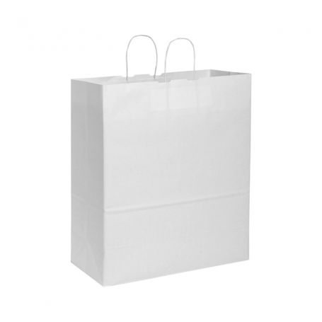 Shopping Bag 45 x 48 x 20 cm paper bag Kraft White