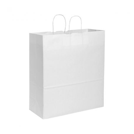 Shopping Bag 36 x 41 x 12 cm busta in carta Kraft Bianca