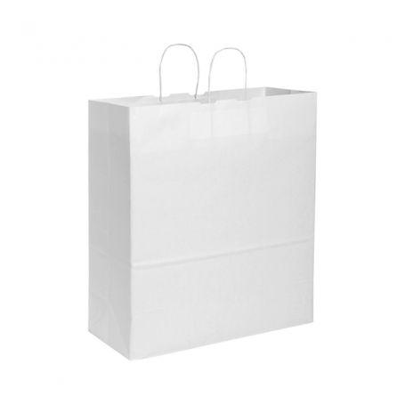Shopping Bag 36 x 41 x 12 cm envelope, Kraft paper, White
