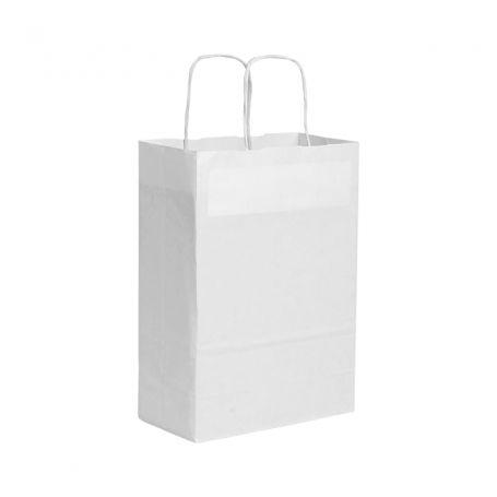 Shopping Bag 22 x 29 x 10 cm envelope with Kraft paper, White