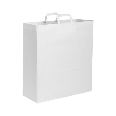 Shopping Bag 26 x 39 x 14 cm paper bag with flat handle Size M
