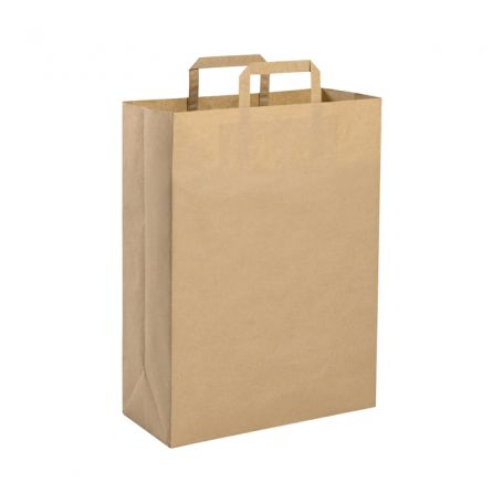 Shopping Bag 32 x 43 x 17 cm envelope made from Recycled paper Havana Size L
