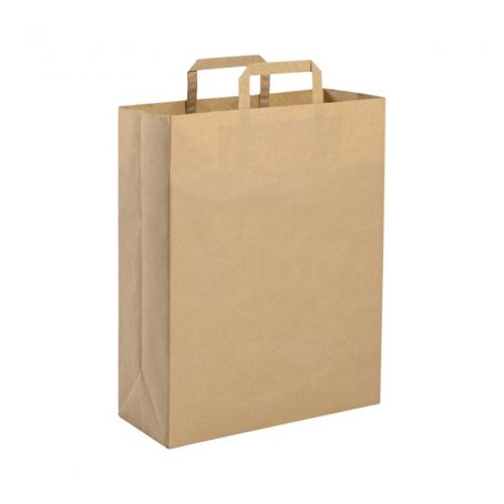 Shopping Bag 22 x 29 x 10 cm envelope made from Recycled paper Havana Size S