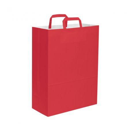 Shopping Bag 32 x 43 x 17 cm envelope colored paper flat handle, Size L