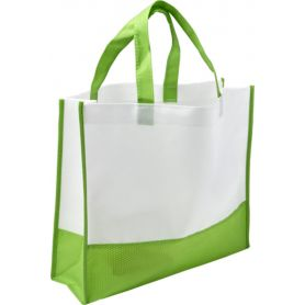 Shopper/Bag 38x30,5x9cm TNT Bicolor large bellows