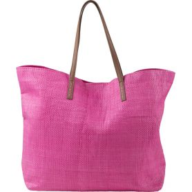 OUT OF ALL! Beach bag in TNT laminate, with handles, dark brown