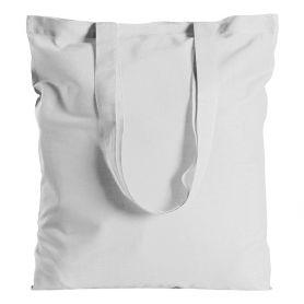 Shopper/Bag 38x42cm, 100% Cotton 280gr/m2 White DTG long handles