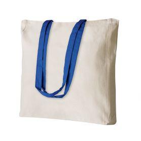 Shopper/Bag 38x42x8cm 100% Cotton 220 gr/m2 White long handles