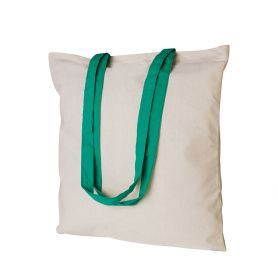 Shopper/Bag 38x42cm, 100% Cotton 220gr/m2 bicolor long handles