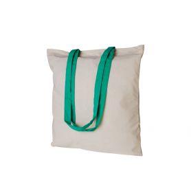 Shopper/Bag 38x42cm, 100% Cotton 130gr/m2 bicolor long handles