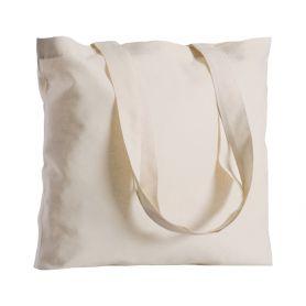 Shopper/Bag 42x42cm 100% Cotton 130/m2 Natural long handles