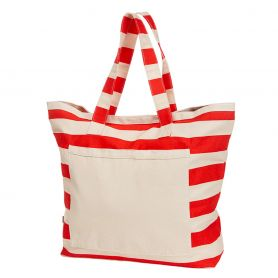 Shopper/Bag Beach 60x46x18cm Cotton velcro closure
