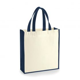 Shopper 25x32x9cm Cotton Canvas 400g/m2 in two colours with short handles Westford Mill