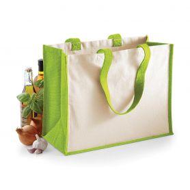 Shopper/Bag 42x33x19cm Jute Laminated Canvas Westford Mill