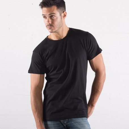T-Shirt Evolution Organic T-Unisex Short Sleeve Black Spider