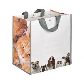 "Shopping bag Shopping 35x34,5x22cm ""Cats and Dogs"" Polypropylene"