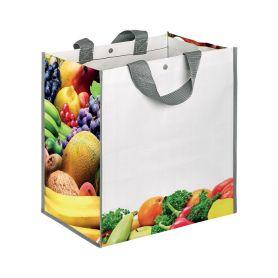 "Borsa Shopping Spesa 35x34,5x22cm ""Frutta"" in Polipropilene"
